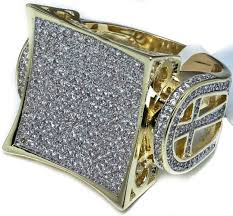 mens iced out jewelry rings