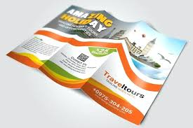 Tourism Brochure Template Word And Vector Format Microsoft Flyer ...