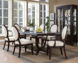 gray agreeable ashley furniture room sets rectangle espresso wood table faux lear fetching
