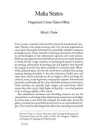 mafia states organized crime takes office essay foreign  what is