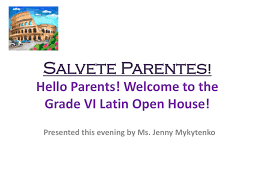 Open House Powerpoint 6th Grade Open House Powerpoint