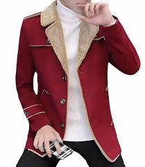 red dust cool men s winter slim wool blend pea coat jacket trench blackus