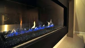 fireplace glass beads gas with blue flame electric insert cost convert wood