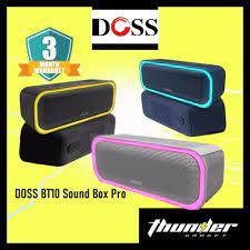 DOSS BT10 SoundBox Pro Wireless Bluetooth Extra Bass Stereo Speaker With  LED Light