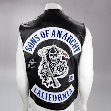 ron perlman autographed sons of anarchy samcro leather vest