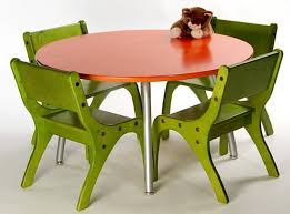 childrens table chair sets stunning kids room round red metal 4 seates fun green decorating ideas