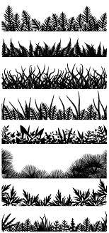 花草木の無料背景シルエット2aiepsの無料イラストレーター素材なら