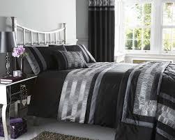 image of duvet cover double black