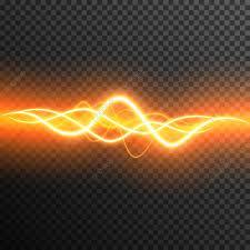 Neon Beleuchtung Gewitter Leuchten Strahlen Transparent