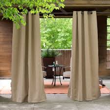c coast sunbrella outdoor curtain panel 8695u f45936