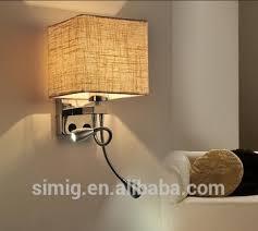 <b>E27</b>*1-40w fabric LED wall mounted decorative lighting for hotel ...