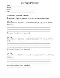 ... Stunning Inspiration Ideas Resume Worksheet 12 RESUME WORKSHEET U For  Brainstorming And Information Collection ...