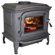 epa certified black cast iron wood stove