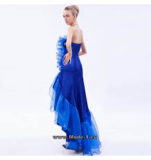 Asymetrisches Abendkleid Amiela Blau