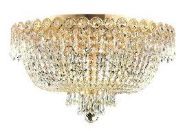 flush mount chandelier crystal 4 light semi antique copper contemporary lighting