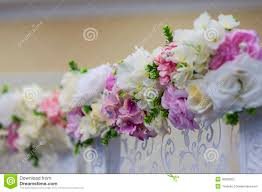 Wedding Flowers Decoration Wedding Flowers Decoration In The Restaurant Stock Photo Image