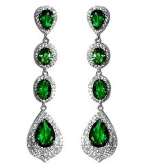 lighting fascinating emerald chandelier earrings 11 1 chloey bridal 12 carat green cubic zirconia long dangle