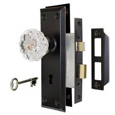 antique door knobs hardware. Antique Bronze Victorian Glass Interior Door Knob Mortise Lock Set High Security Knobs Hardware