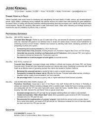 resume entry level hospitality example hospitality resume