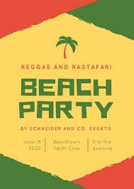 Part Flyer Red Green Reggae Rastafari Block Party Flyer Templates By Canva