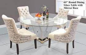 modern round mirrored dining table 60