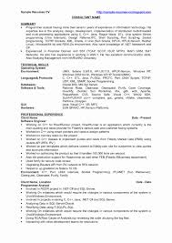 Php Programmer Resume Sample Resume Format For PHP Developer Fresher Luxury Java Programmer 2