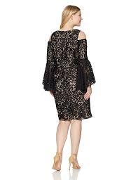 Xscape Plus Size Womens Short Cold Shoulder Dress