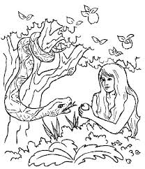 Small Picture Adam and eve coloring pages the apple and snake ColoringStar
