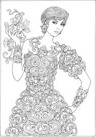 Small Picture 350 best ColouringFemale images on Pinterest Drawings Coloring