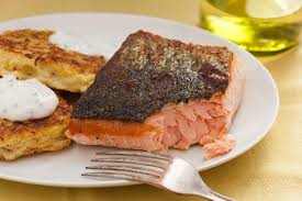 cooked salmon inside. Fine Cooked Basic Seared Salmon Fillet To Cooked Inside T