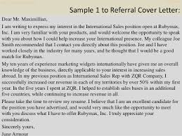 Sample Referral Cover Letter Top 10 Wikispaces Cover Letter Samples
