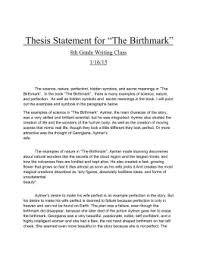 "nathaniel hawthorne s ""the birthmark"" discussion questions thesis statement for ""the birthmark"""