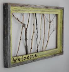 sticks welcome sign on nature inspired wall art with nature inspired diy ideas for the home paintspiration art