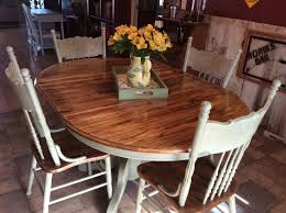 i rescued and red this beautiful solid oak table and chairs with amy howard one step paint in lou lou waxed with light and dark antique wax