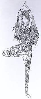 Tree Pose Coloring Page