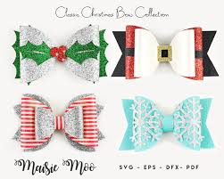 Ready in ai, svg, eps or psd. Christmas Bow Svg Collection Christmas Bow Template Svg Bow Etsy Christmas Bows Christmas Hair Bows Bow Template
