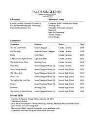 college freshman resume