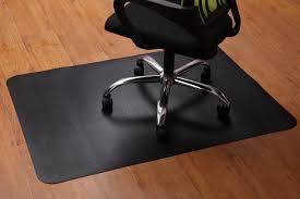 wood floor office. Office Chair Mat For Hardwood And Tile Floor, Black, Anti-Slip, Under Wood Floor G