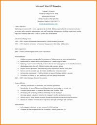 Sample Word Document Templates 5 Cv Samples Word Doc Theorynpractice