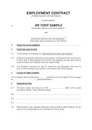 Basic Contract Outline Basic Employment Contract Templates At