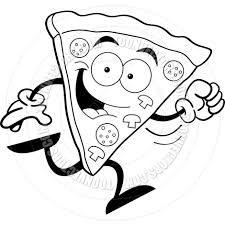 pizza clipart black and white. With Pizza Clipart Black And White