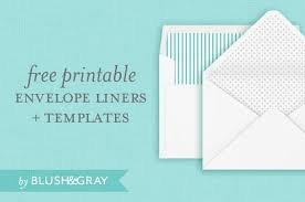 Free Envelope Liners And Templates Blush Gray