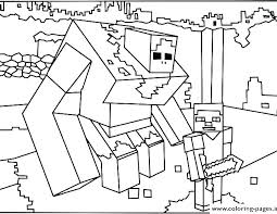 Minecraft Coloring Pages Herobrine Printable Awesome Projects Steve