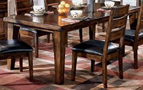extendable dining room table by signature design by ashley. ashley furniture signature design - larchmont dining room table old world style burnished dark extendable by