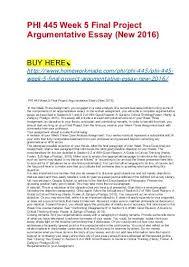Phi 445 Week 1 Journal Essay College Paper Example