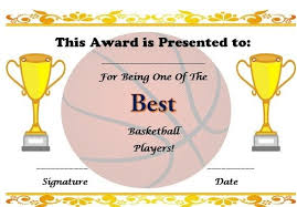 Free Basketball Certificate Template Basketball Certificate