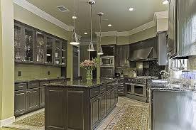 Dark gray cabinets and green walls, backsplash. | Kitchen | Pinterest | Gray  cabinets, Green walls and Dark grey