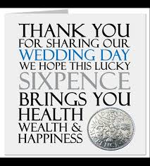 lucky sixpence gift favour