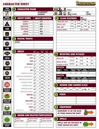 character sheet pathfinder pathfinder beginner character sheet fill online printable