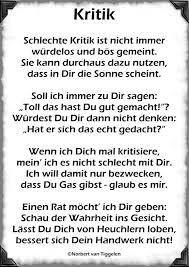 Kritik Schlechte Kritik Ist Nicht Immer Gedichte Von Norbert